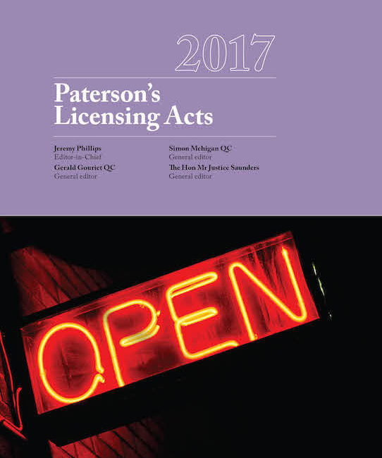 "This is the textbook ""Paterson's Licensing Acts"" - the alcohol licensing ""bible"""